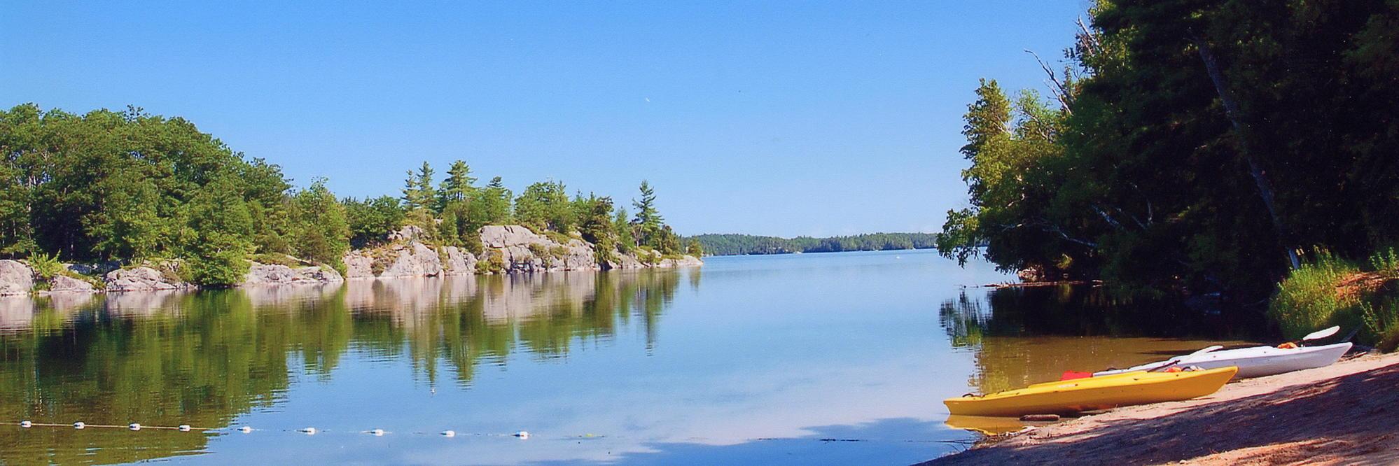 Reflecting at the lake